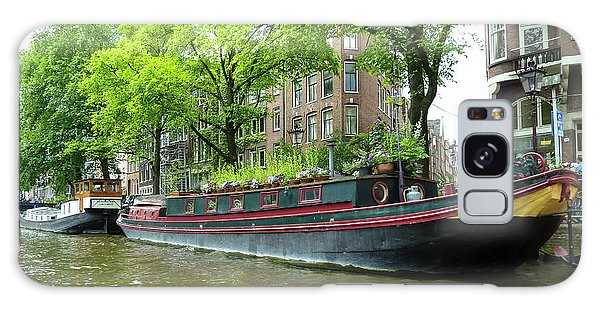 Canal Boats In Amsterdam - 2 Galaxy Case