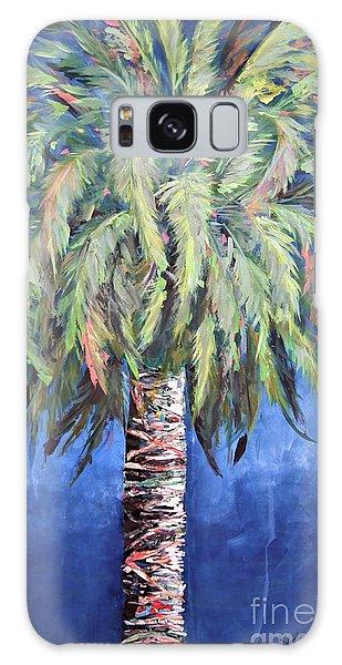 Canary Island Palm- Warm Blue I Galaxy Case