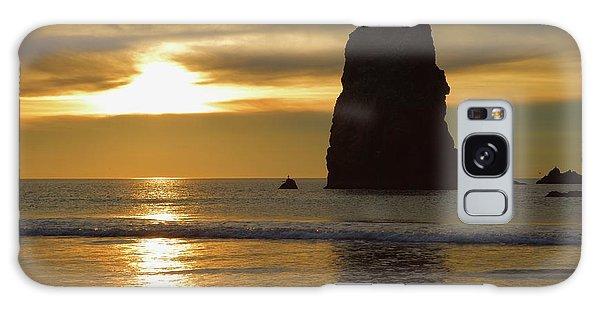 Cannon Beach November Evening Galaxy Case