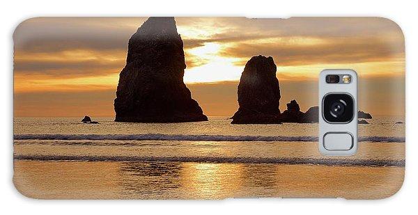 Cannon Beach November Sunset Galaxy Case