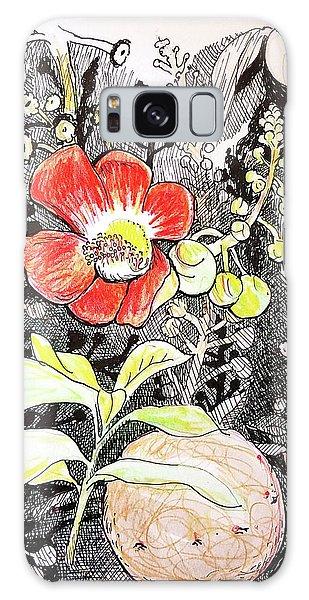 Cannonball Flower Botanical Galaxy Case
