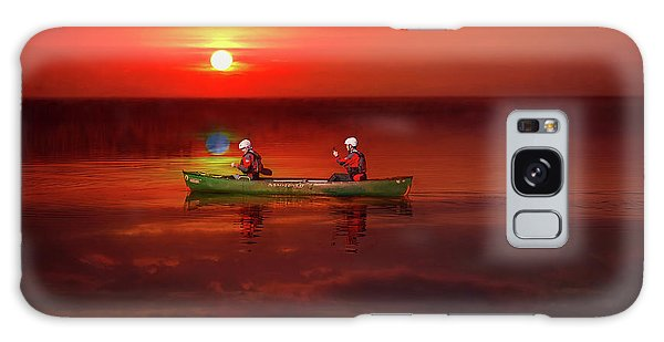 Galaxy Case - Canoe At Sunset by Adrian Evans