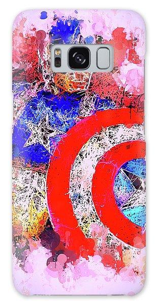Captain America Watercolor Galaxy Case