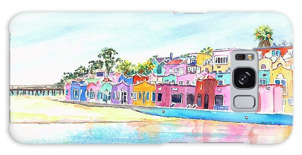 Capitola California Colorful Houses Galaxy Case