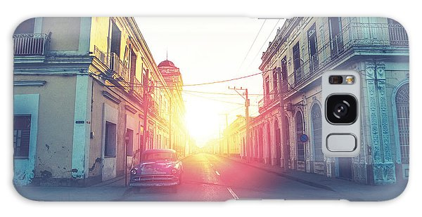 Faded Galaxy Case - Car Drive In Havana Street, Faded And by Marcin Jucha