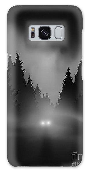 Dawn Galaxy Case - Car On Dark Road At Night Through Misty by Andreiuc88