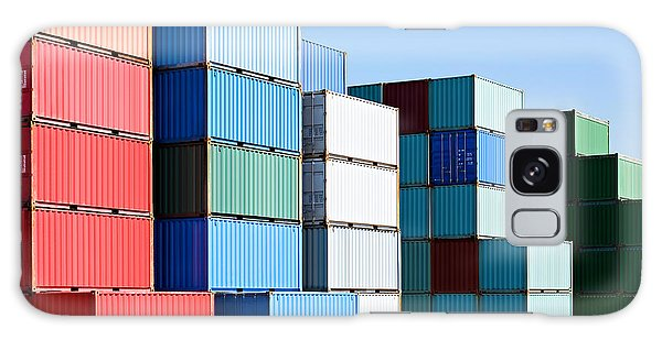 Shipping Galaxy Case - Cargo Shipping Containers Stacked At by Sascha Burkard