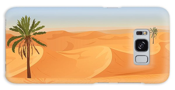 Horizontal Galaxy Case - Cartoon Nature Sand Desert Landscape by Lemberg Vector Studio