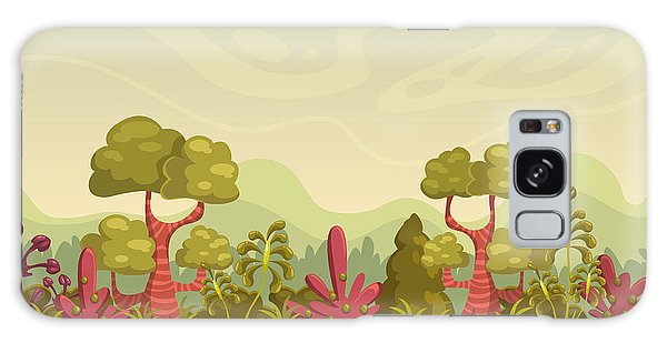 Horizontal Galaxy Case - Cartoon Seamless Nature Landscape by Lilu330