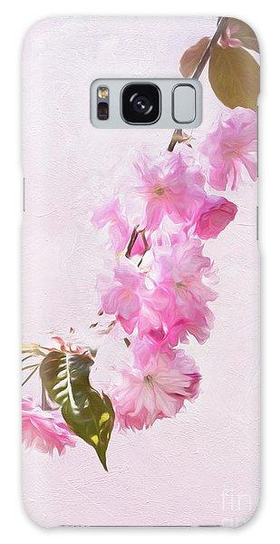 Cascading Kwanzan Cherry Blossoms Galaxy Case