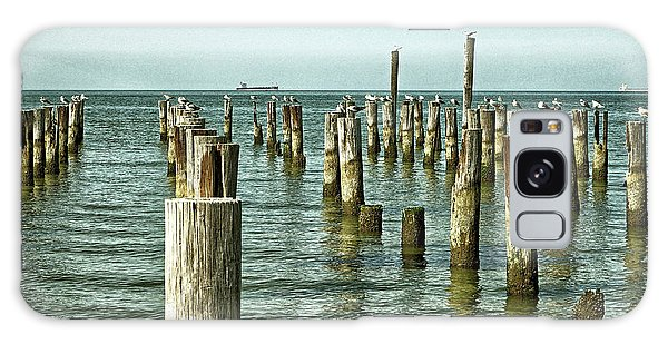 Galaxy Case featuring the photograph Casino Pilings At Cape Charles Virginia by Bill Swartwout Fine Art Photography