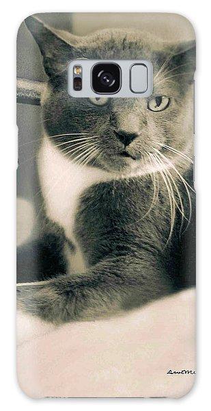 Cat Boticas Portrait  7 Galaxy Case