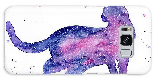 Galaxy Galaxy Case - Cat In Space by Olga Shvartsur