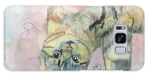 Playful Cat Named Simba Galaxy Case