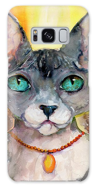 Cat Portrait My Name Is Adorable Galaxy Case