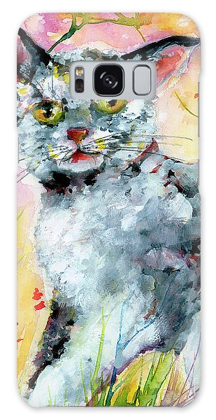 Cat Portrait My Name Is Hobo Galaxy Case