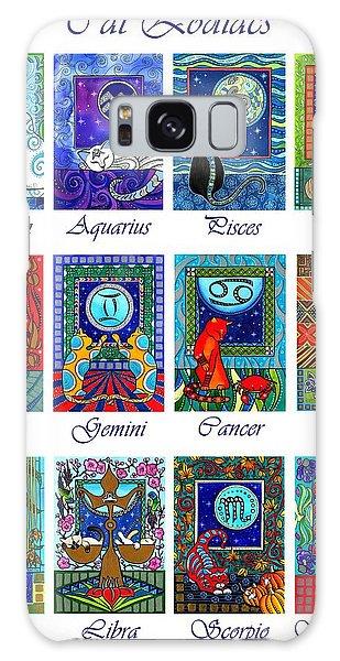 Cat Zodiac Astrological Signs Galaxy Case
