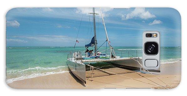 Catamaran On Waikiki Galaxy Case