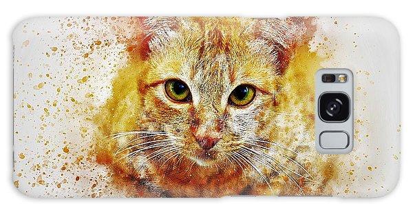 Watercolor Pet Portraits Galaxy Case - Cat's Eye by ArtMarketJapan