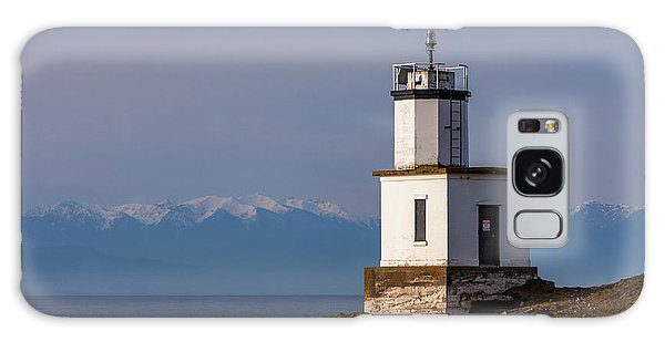 Cattle Point Lighthouse Galaxy Case