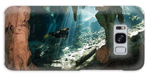 Scuba Diving Galaxy Case - Cave Diving In Cenote by Marcus Bay