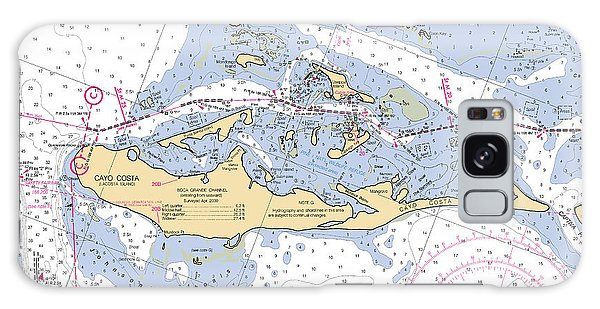 Cayo Costa Nautical Chart Galaxy Case
