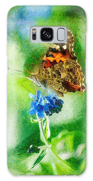 Chalky Painted Lady Butterfly Galaxy Case