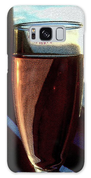 Galaxy Case featuring the photograph Champagne Glass Lipstick by Bill Swartwout Fine Art Photography