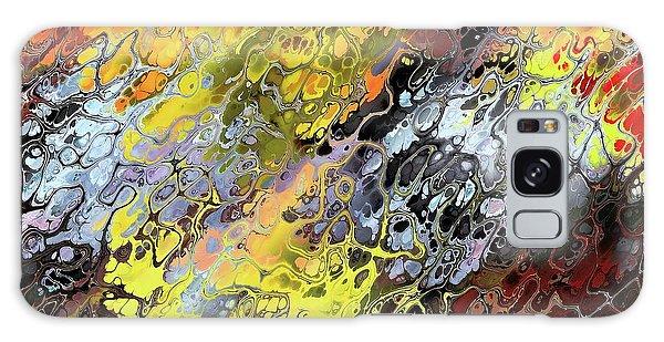Chaos Abstraction Orange Galaxy Case