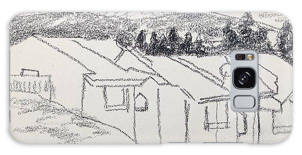 Charcoal Pencil Houses1.jpg Galaxy Case