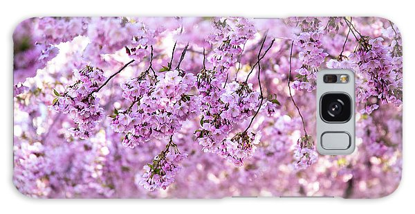 Blossoms Galaxy Case - Cherry Blossom Flowers by Nicklas Gustafsson