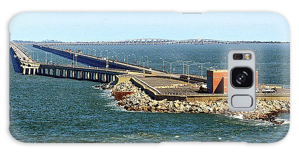 Galaxy Case featuring the photograph Chesapeake Bay Bridge Tunnel E S V A by Bill Swartwout Fine Art Photography