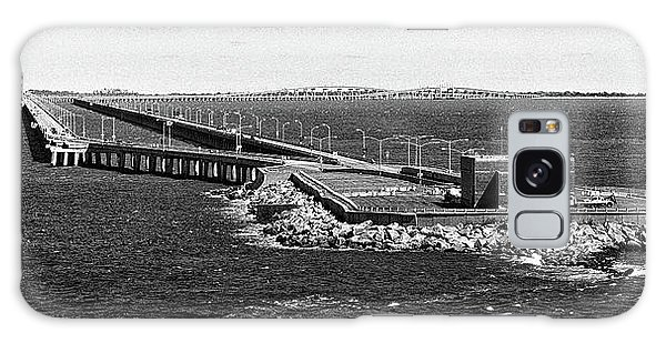 Galaxy Case featuring the photograph Chesapeake Bay Bridge Tunnel E S V A Black And White by Bill Swartwout Fine Art Photography