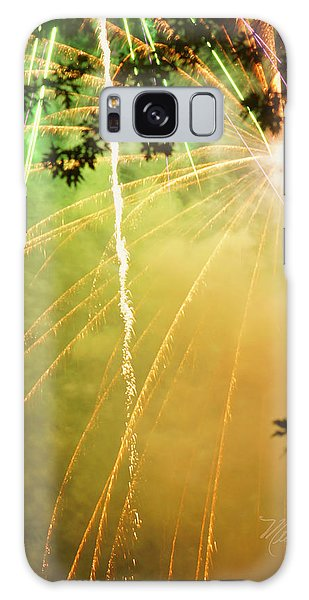 Yellow Fireworks Galaxy Case