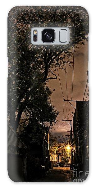 Brick House Galaxy Case - Chicago Alley At Night by Bruno Passigatti
