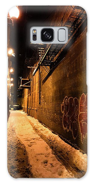 Chicago Alleyway At Night Galaxy Case