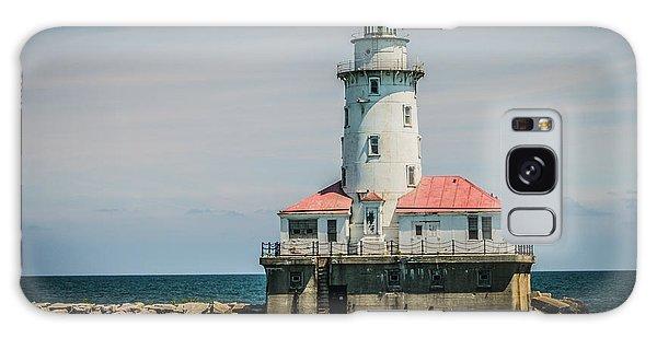Chicago Harbor Lighthouse Galaxy Case