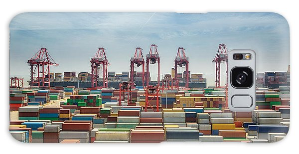 Shipping Galaxy Case - China, Shanghai Harber Container Box by Anek.soowannaphoom