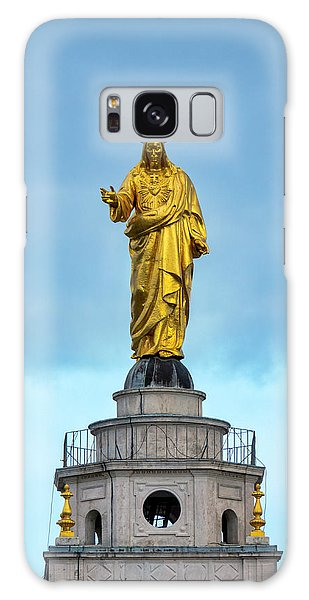 Sacred Heart Galaxy Case - Christ The Redeemer by Fabrizio Troiani