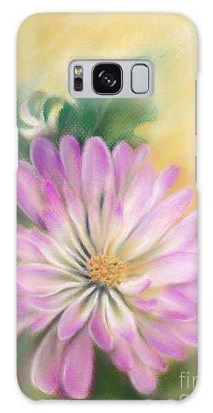 Chrysanthemum Blossom With Bud And Leaf Galaxy Case