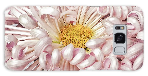 Galaxy Case featuring the photograph Chrysanthemum Satin Ribbon by Ann Jacobson