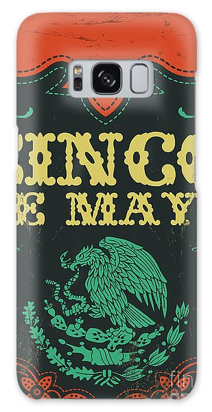 Mexican Galaxy S8 Case - Cinco De Mayo - Mexican Holiday Vintage by Julio Aldana