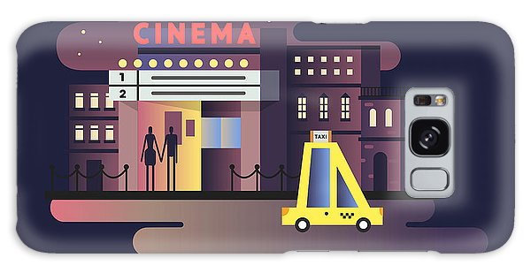 Event Galaxy Case - Cinema Building Night by Kit8.net