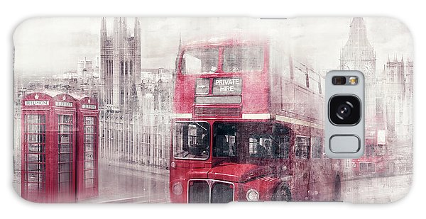 Houses Of Parliament Galaxy Case - City-art London Westminster Collage II by Melanie Viola