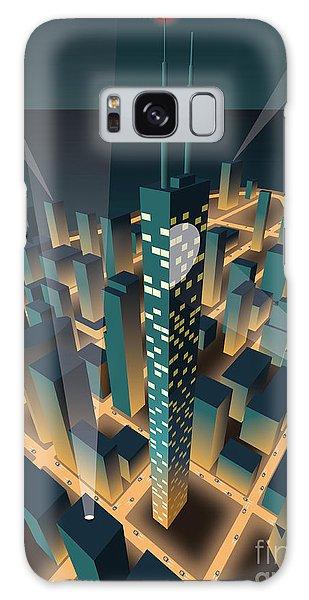 Horizontal Galaxy Case - City At Night by Nikola Knezevic