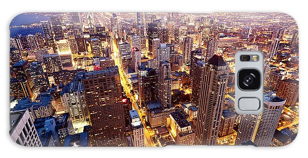 Dusk Galaxy Case - City Of Chicago. Aerial View  Of by Andrey Bayda