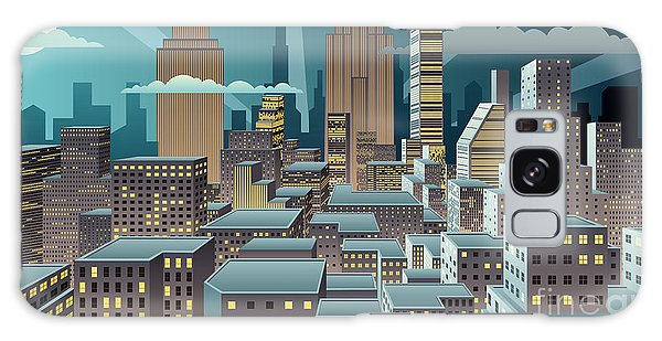 Horizontal Galaxy Case - Cityscape At Night. Basic Linear by Malchev