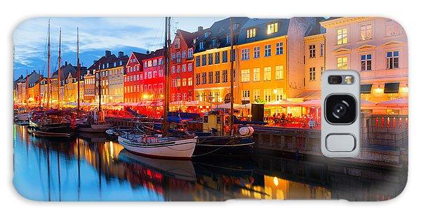 Dusk Galaxy Case - Cityscape Of Copenhagen At A Summer by Sergiyn