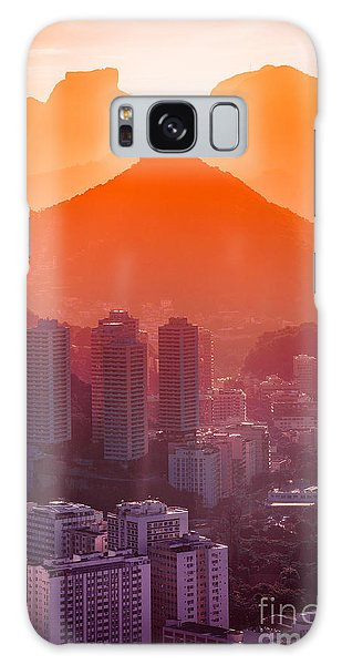 No People Galaxy Case - Cityscape With Mountain Range In The by Celso Diniz