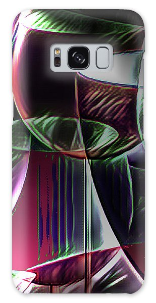 Galaxy Case - Claret Abstract by Digital Painting